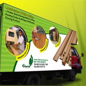 elegant Wood Manufacturer Vehicle Graphic Design by Jet Creative Design Malaysia