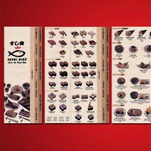 Sushi King Menu Design by Jet Creative Design Malaysia