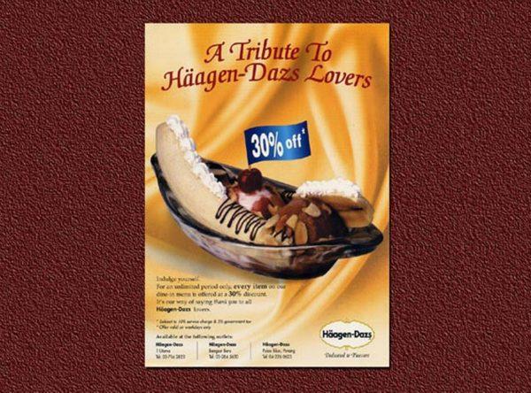 Haagen Dazs Leaflet